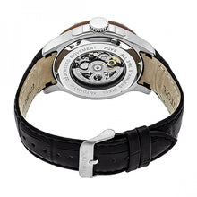 Load image into Gallery viewer, Heritor Automatic Belmont Skeleton Leather-Band Watch - Silver - HERHR3901