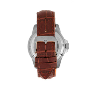 Heritor Automatic Lucius Leather-Band Watch w/Date - Silver/Brown - HERHR7808