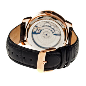 Heritor Automatic Piccard Semi-Skeleton Leather-Band Watch - Gold/Silver - HERHR2003