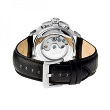 Load image into Gallery viewer, Heritor Automatic Lennon Semi-Skeleton Leather-Band Watch - Silver/Black - HERHR2802