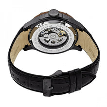Load image into Gallery viewer, Heritor Automatic Belmont Skeleton Leather-Band Watch - Black - HERHR3907