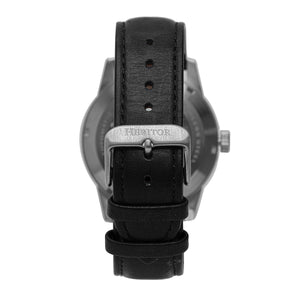 Heritor Automatic Jonas Leather-Band Skeleton Watch - Silver/Black - HERHR9501