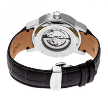 Load image into Gallery viewer, Heritor Automatic Romulus Leather-Band Watch - Silver/Black - HERHR6404