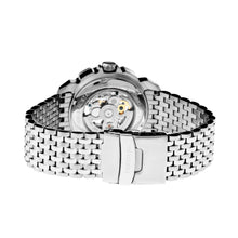 Load image into Gallery viewer, Heritor Automatic Conrad Skeleton Bracelet Watch - Silver/Black - HERHR2501