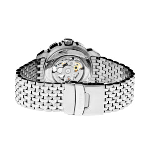Heritor Automatic Conrad Skeleton Bracelet Watch - Silver/Black - HERHR2501