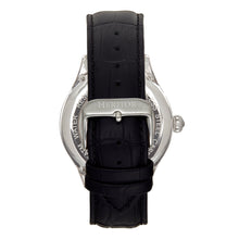 Load image into Gallery viewer, Heritor Automatic Hayward Semi-Skeleton Leather-Band Watch - Silver - HERHR9401