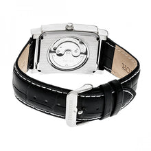 Load image into Gallery viewer, Heritor Automatic Frederick Leather-Band Watch - Silver/Black - HERHR6102