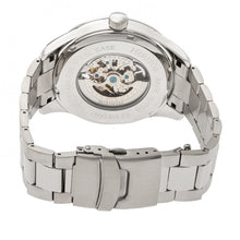 Load image into Gallery viewer, Heritor Automatic Crew Semi-Skeleton Bracelet Watch - Silver - HERHR7001