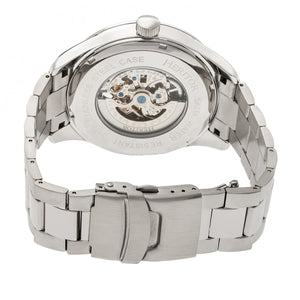 Heritor Automatic Crew Semi-Skeleton Bracelet Watch - Silver - HERHR7001
