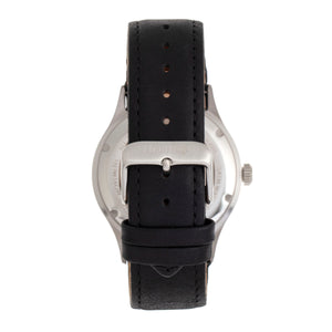 Heritor Automatic Antoine Semi-Skeleton Leather-Band Watch - Silver/Black - HERHR8506