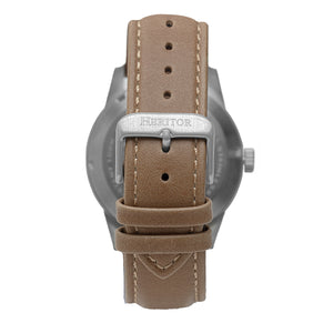 Heritor Automatic Jonas Leather-Band Skeleton Watch - Silver/Bronze - HERHR9505