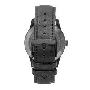 Heritor Automatic Jonas Leather-Band Skeleton Watch - Black - HERHR9506