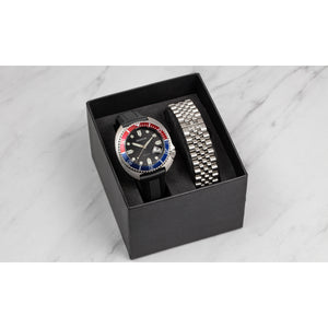 Heritor Automatic Matador Box Set with Interchangable Bands and Date Display - Red/Blue - HERHR9303