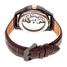 Load image into Gallery viewer, Heritor Automatic Sebastian Semi-Skeleton Leather-Band Watch  - Black/Brown - HERHR6906