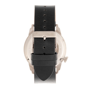 Heritor Automatic Wellington Leather-Band Watch - Black/White - HERHR8203