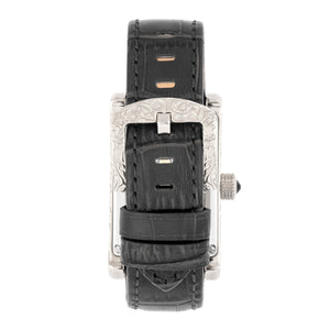 Heritor Automatic Jefferson Leather-Band Watch - Silver/Black - HERHR8801