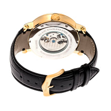 Load image into Gallery viewer, Heritor Automatic Aries Skeleton Leather-Band Watch - Black/Gold - HERHR4406