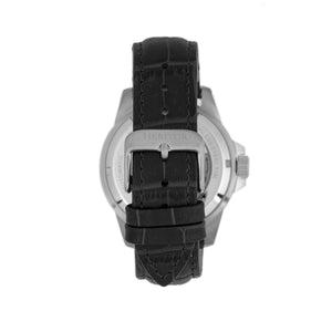 Heritor Automatic Lucius Leather-Band Watch w/Date - Silver/Black - HERHR7807