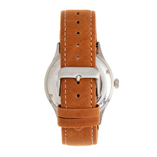 Load image into Gallery viewer, Heritor Automatic Antoine Semi-Skeleton Leather-Band Watch - Silver/Umber - HERHR8507