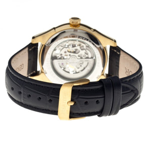 Heritor Automatic Nicollier Skeleton Leather-Band Watch - Gold/Black - HERHR1903