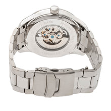 Load image into Gallery viewer, Heritor Automatic Crew Semi-Skeleton Bracelet Watch - Silver/Olive - HERHR7010