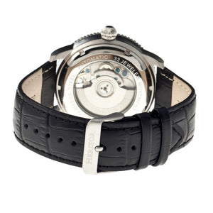 Heritor Automatic Piccard Semi-Skeleton Leather-Band Watch - Silver - HERHR2001