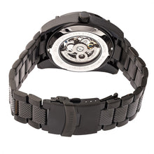 Load image into Gallery viewer, Heritor Automatic Daniels Semi-Skeleton Bracelet Watch - Black - HERHR7402