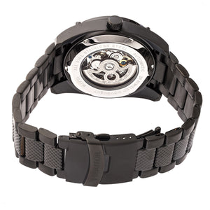 Heritor Automatic Daniels Semi-Skeleton Bracelet Watch - Black - HERHR7402