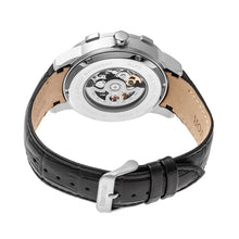Load image into Gallery viewer, Heritor Automatic Callisto Semi-Skeleton Leather-Band Watch - Silver/Black - HERHR7202