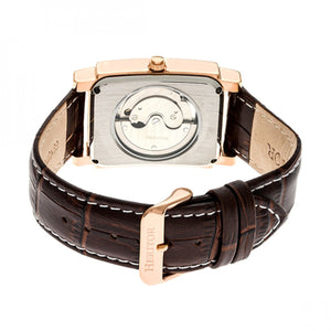 Heritor Automatic Frederick Leather-Band Watch - Rose Gold/Silver - HERHR6104