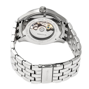 Heritor Automatic Stanley Semi-Skeleton Bracelet Watch - Silver - HERHR6501