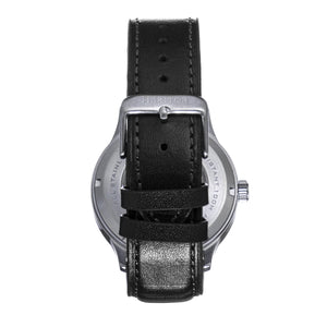 Heritor Automatic Bradford Leather-Band Watch w/Date - Gray & Black - HERHS1103