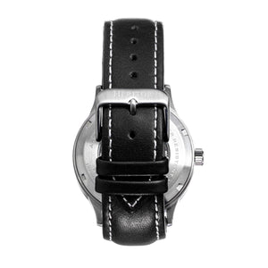 Heritor Automatic Oscar Semi-Skeleton Leather-Band Watch - Black - HERHS1001