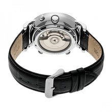 Load image into Gallery viewer, Heritor Automatic Edmond Leather-Band Watch w/Date - Silver/Black - HERHR6202
