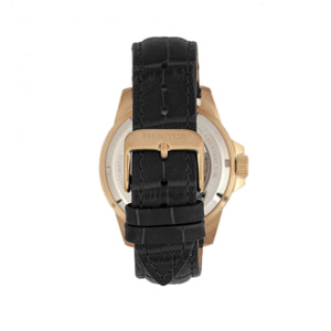 Heritor Automatic Lucius Leather-Band Watch w/Date - Rose Gold/Black - HERHR7811