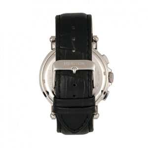 Heritor Automatic Kingsley Leather-Band Watch w/Day/Date - Silver/Black - HERHR4808