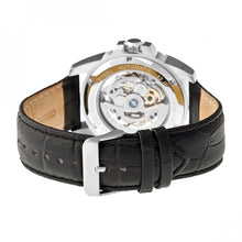 Load image into Gallery viewer, Heritor Automatic Armstrong Skeleton Leather-Band Watch - Silver/Black - HERHR3402