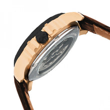 Load image into Gallery viewer, Heritor Automatic Bonavento Semi-Skeleton Leather-Band Watch - Rose Gold/Black - HERHR5605