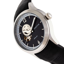 Load image into Gallery viewer, Heritor Automatic Antoine Semi-Skeleton Leather-Band Watch - Silver/Black - HERHR8506
