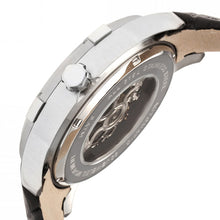 Load image into Gallery viewer, Heritor Automatic Callisto Semi-Skeleton Leather-Band Watch - Silver/Grey - HERHR7201