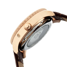 Load image into Gallery viewer, Heritor Automatic Piccard Semi-Skeleton Leather-Band Watch - Rose Gold/Black - HERHR2006