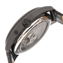 Load image into Gallery viewer, Heritor Automatic Sebastian Semi-Skeleton Leather-Band Watch  - Black - HERHR6905