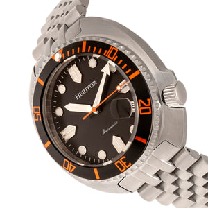 Heritor Automatic Matador Box Set with Interchangable Bands and Date Display - Black/Orange - HERHR9302