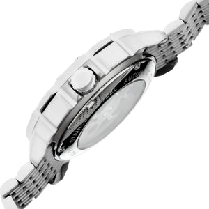 Heritor Automatic Conrad Skeleton Leather-Band Watch - Silver - HERHR2501