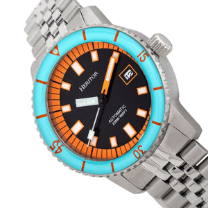 Heritor Automatic Edgard Bracelet Diver's Watch w/Date - Light Blue/Black - HERHR9102