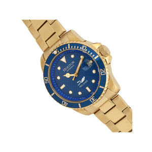 Heritor Automatic Lucius Bracelet Watch w/Date - Gold/Blue  - HERHR7804