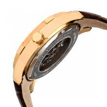 Load image into Gallery viewer, Heritor Automatic Callisto Semi-Skeleton Leather-Band Watch - Gold/Silver - HERHR7204