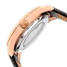 Load image into Gallery viewer, Heritor Automatic Stanley Semi-Skeleton Leather-Band Watch - Rose Gold/Black - HERHR6506