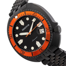 Load image into Gallery viewer, Heritor Automatic Morrison Special Edition Bracelet Watch w/Date - Black/Orange/Black  - HERHR7616