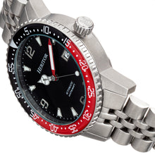 Load image into Gallery viewer, Heritor Automatic Dominic Bracelet Watch w/Date - Black&Red/Black - HERHR9804